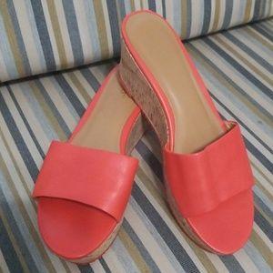 Ni me West Slide Confety Leather Plataform Sandals